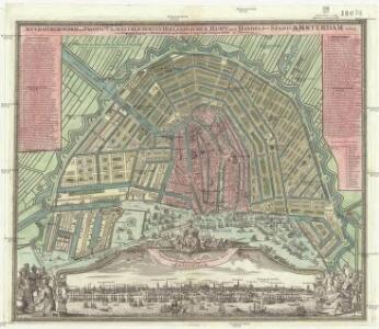 Accurater Grundris und Prospect der weltberuhmten hollandischen Haupt- und Handels-Stadt Amsterdam