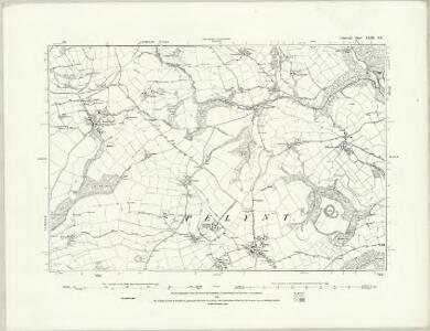 Cornwall XLIII.SW - OS Six-Inch Map
