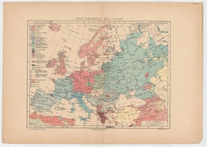 Carta etnográfica dell' Europa / dir. G.Marinelli ; Francesco Vallardi