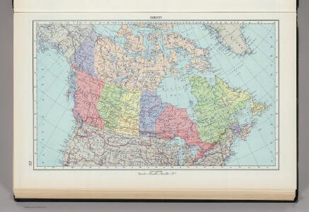187.  Canada, Political.  The World Atlas.