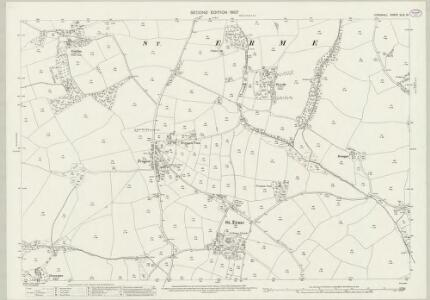 Cornwall XLIX.13 (includes: Ladock; St Erme) - 25 Inch Map