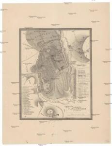 Topographischer Plan von Jerusalem im Jahre 1837