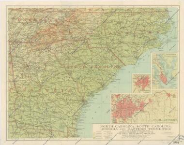 North Carolina, South Carolina, Georgia and Eastern Tenessee