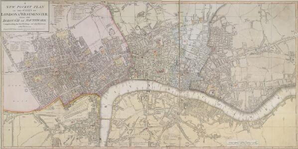 A NEW POCKET PLAN OF THE CITIES OF LONDON & WESTMINSTER WITH THE BOROUGH OF SOUTHWARK: Comprehending the New Buildings and other Alterations to the Year 1790