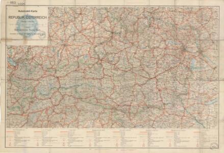 Automobil-Karte der Republik Österreich: Österreichischen Touring-Buch