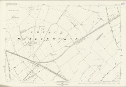 Worcestershire XLIII.15 (includes: Church Honeybourne; Cow Honeybourne; Pebworth; Weston Subedge) - 25 Inch Map