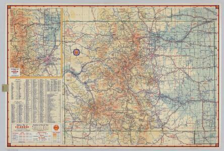 Shell Highway Map of Colorado.