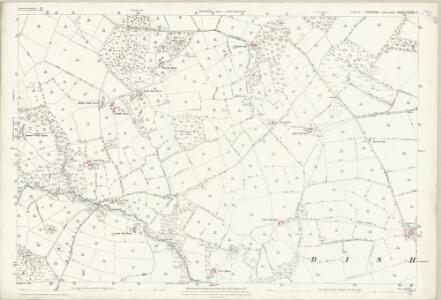 Yorkshire CXXXVI.7 (includes: Bishop Thornton; Hartwith Cum Winsley; Warsill) - 25 Inch Map