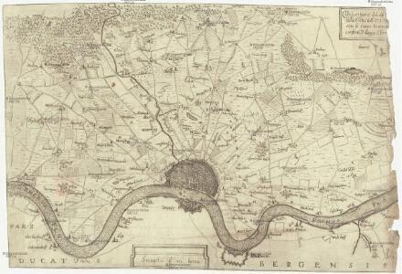 Descritione' del dis[tretto] della citta' di Colo[nia] con li suoi termi[ni] confini, villagi e terr[e &]