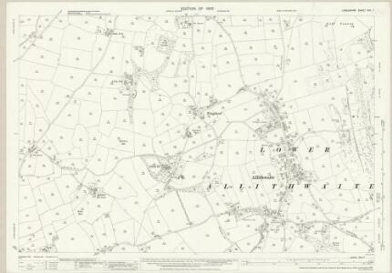 Lancashire XVII.7 (includes: Grange; Lower Allithwaite; Lower Holker) - 25 Inch Map