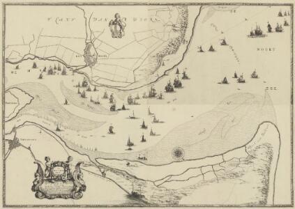 De mont van de Maes : met een op rechte af-beeldinge van alle de actien die bij het Postjacht, de loots boots en andere schepen in het uijt en in seilen oock van het posthuijs en postillions werden gedaen