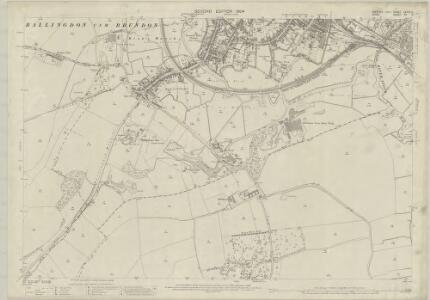 Suffolk LXXIX.3 (includes: Ballingdon; Bulmer; Great Cornard; Middleton; Sudbury) - 25 Inch Map