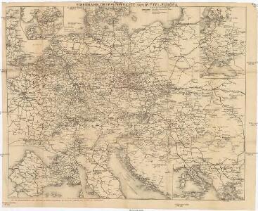 Eisenbahn-Übersichtskarte von Mittel-Europa