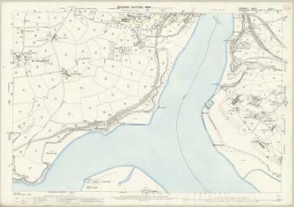 Cornwall XLVI.5 (includes: Antony; Devonport; Saltash) - 25 Inch Map