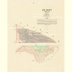 Guscht (Kussti) - c3733-1-001 - Kaiserpflichtexemplar der Landkarten des stabilen Katasters