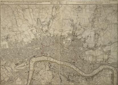 A PLAN of the CITIES of LONDON WESTMINSTER & the BOROUGH of SOUTHWARK Reduc'd to the Same Scale as those of PARIS ROME & DUBLIN