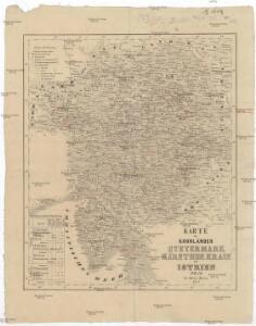 Karte der Kroländer Steyermark, Kärnthen, Krain und Istrien