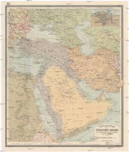 Mittelbach's Karte des Türkischen Reiches mit Südrussland, Kaukasus, Persien, Ägypten, Arabien