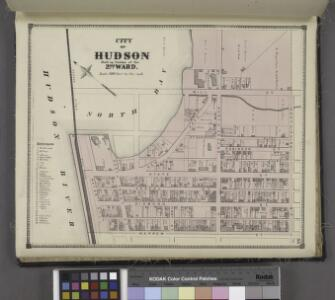 City of Hudson Built Up Portion of the 2nd Ward. [Township]