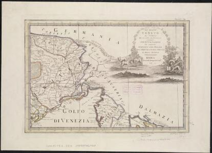 Lo Stato Veneto da terra diviso nelle sue provincie, seconda parte che comprede porzioni del Dogado del Trevisano del Friuli e dell' Istria