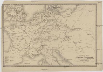 Übersichtskarte des Eisenbahn- und Telegraphen-Verbindungen von Mittel-Europa