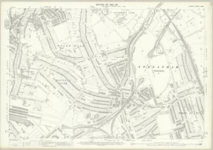 London (Edition of 1894-96) CXXVI (includes: Lambeth St Mary; Wandsworth Borough) - 25 Inch Map