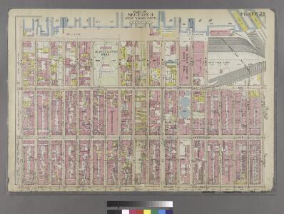 [Plate 24: Bounded by Twelfth Avenue [Hudson River Piers], W. 60th Street, West End Avenue, W. 64th Street, Columbus Avenue, and W. 47th Street.]