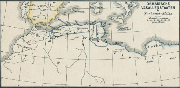 Osmanische Vasallenstaaten in Nordwest-Afrika