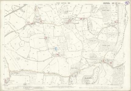 Herefordshire XXXVI.10 & 11 (includes: Colwall; Ledbury Rural; Little Malvern; Malvern Wells; Welland) - 25 Inch Map