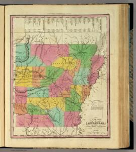 New Map Of Arkansas.