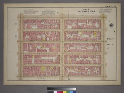 Plate 28, Part of Sections 3&4: [Bounded by W. 42nd Street, Ninth Avenue, W. 37th Street and Eleventh Avenue.]