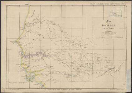 Map of the Gambia with the coast & country adjoining : to accompany Dr. Madden's report