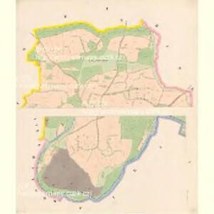 Hussinetz (Hussinec) - c2437-1-001 - Kaiserpflichtexemplar der Landkarten des stabilen Katasters