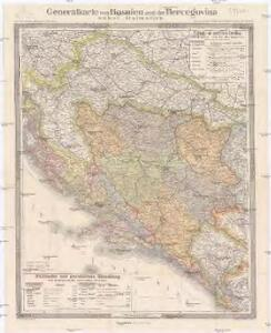 Generalkarte von Bosnien und der Hercegovina nebst Dalmatien