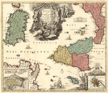 Regnorum Siciliae et Sardiniae nec non Melitae seu Maltae Insula cum adjectis Italiae et Africae Litoribus Nova Tabula