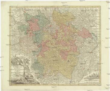 Mappa geographica, in qua ducatus Lotharingiae et Barr ut et episcopatuum Metens. Tullens. Verdunens. territoria, tractusque finitimi, in suos quiq. ditiones disterminati