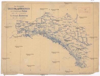 Das Königreich Galizien u. Lodomerien mit d. Grossherzogth. Krakau, das Herzogth. Bukovina