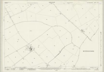 Northamptonshire XIX.12 (includes: Glatton; Great Gidding; Hemington; Luddington; Lutton; Polebrook) - 25 Inch Map