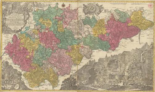 Mappa Geographica Circuli Metalliferi Electoratus Saxoniae cum omnibus, quae in eo comprehenduntur Praefecturis, quales sunt: I.) Praefectura Zwikaviensis. II.) Praef: Schwarzenbergensis