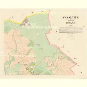 Kwasetitz - c3741-1-002 - Kaiserpflichtexemplar der Landkarten des stabilen Katasters