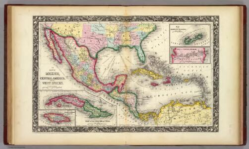 Map Of Mexico, Central America, And The West Indies.