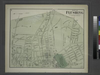 Part of Flushing. Town of Flushing, Queens Co. [Includes Bayside Avenue, Broadway, Sanford Avenue, Queens Avenue, Walnut Avenue, Murray Avenue, Rodman Street, Percy Street, Parsons Avenue and Bowne Avenue.]