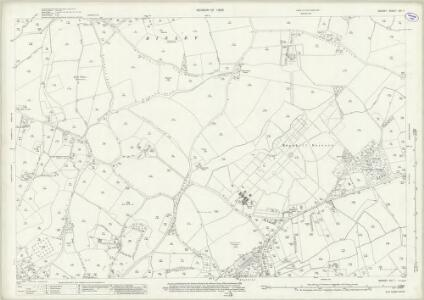 Surrey XVI.7 (includes: Chobham; Horsell; Woking) - 25 Inch Map