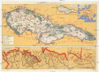Tourist map of Czechoslovakia