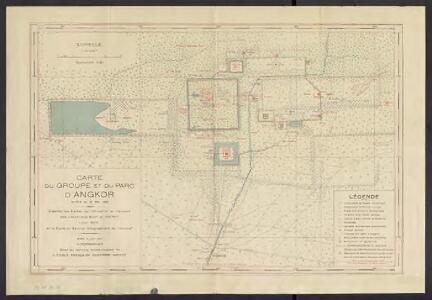 Carte du groupe et du parc d'Angkor : arrêté du 21 mai 1930