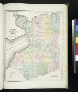 Map of the county of Erie / by David H. Burr ; engd. by Rawdon, Clark & Co., Albany, & Rawdon, Wright & Co., New York.