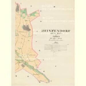 Heinsendorf (Hinczin) - m0947-1-002 - Kaiserpflichtexemplar der Landkarten des stabilen Katasters