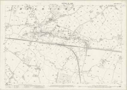 Kent LXIII.2 (includes: Headcorn) - 25 Inch Map