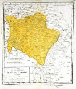Mapa de la provincia de Tras-Los-Montes