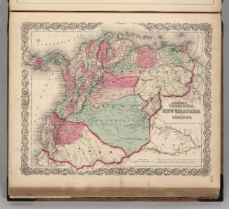 Venezuela, New Granada, and Ecuador.